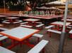 东莞买工厂学校玻璃钢餐桌椅到康腾体育厂家直销做工精细