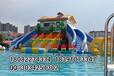夏季消暑娱乐首选移动水上乐园玩支架泳池充气水滑梯等水上玩具