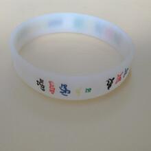 观音心咒硅胶手环法会赠品橡胶手环带佛教饰品调节环图片