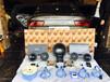 济南浮卡悦听音响奥迪A6汽车音响改装德国BRAX、HELIX音响