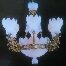 帝辰云石灯饰西班牙云石铜灯卧室大厅吊灯图片