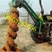 江西新余拖拉机带挖坑机电线杆子挖坑机报价