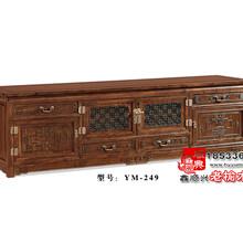 中式仿古老榆木电视柜实木家具YM-249