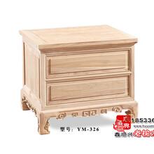 免漆老榆木床头柜简易复古储物柜YM-326
