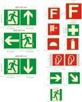 安全标志指示系统标志,消防灭火设备标志,禁止类,障碍物指示条