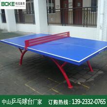 佛山小学生乒乓球台户外防雨支架不生锈球台生产厂家图片