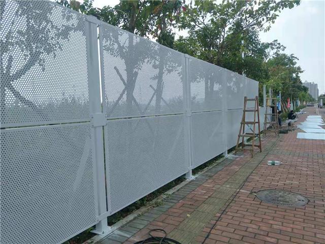 静电喷涂冲孔板围挡施工隔离防风围蔽沿海工地安全防护网