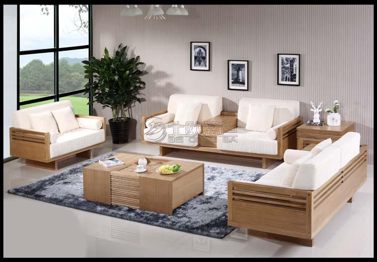 上海北欧篱笆纯实木家具客厅家具组合沙发图片