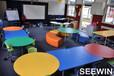 学生课桌椅上海学校课桌椅教室课桌椅诗敏学校家具厂家师生家具