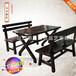 品艺家具实木饭桌餐桌椅实木餐桌实木复古餐桌椅组合火锅餐桌椅餐桌椅组合