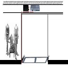 隐形服装防盗器地埋式声磁防盗器安装三佳隐蔽型服装防盗天线图片