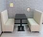 复古咖啡厅沙发卡座西餐厅成套餐桌椅定制火锅店餐厅家具