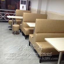 利森家具专业的卡座沙发茶餐厅家具配套一条龙服务