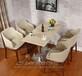 坪地咖啡厅桌椅奶茶甜品店酒吧西餐厅组合休闲咖啡桌批发定制