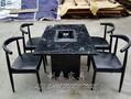 清湖大理石火锅桌连锁店火锅桌椅烧烤桌电磁炉桌火锅桌椅图片