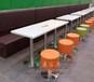 龙岗批发定制简约四人位茶餐厅桌子咖啡厅大理石餐桌椅