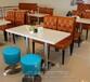 茶餐厅卡座咖啡奶茶冷饮店沙发卡座定制西餐厅卡座
