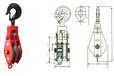 供应起重滑轮规格型号、吊钩式滑轮组产品价格、腾力信。