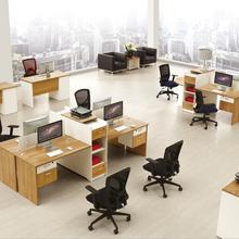 东莞办公家具厂家简约几人位办公桌椅组合屏风卡位