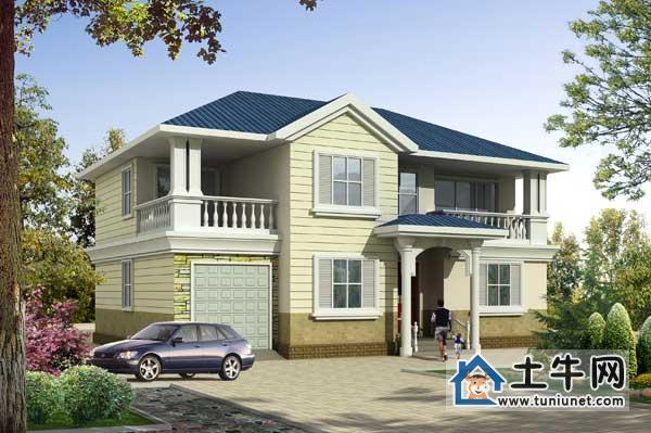 1011漂亮的农村二层带车库小别墅设计图纸别墅设计图纸,二层带图片