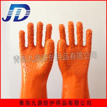 13針尼龍浸膠pvc顆粒止滑手套耐油耐酸堿手套防護用品勞動保護安全工業勞保手套