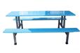 深圳六人位条凳玻璃钢餐桌椅食堂餐桌椅