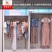 广东厂家专业订做高档铁木结合展柜货架时尚服装展柜货架接受来图订做