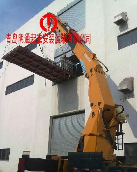 青岛明通专业设备安装、起重吊装、折臂吊叉车等