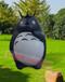 玻璃钢仿真卡通动物龙猫雕塑游乐场公园景区树脂彩绘摆件龙猫雕塑