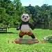玻璃钢仿真卡通功夫熊猫雕塑景区公园游乐场树脂彩绘摆件