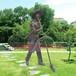 玻璃钢仿真仿铜劳动人民农耕雕塑户外摆件景区园林生态园美化树脂摆件