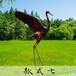 玻璃钢雕塑仿真仿铜动物园鹤雕塑景区公园树脂摆件公园仿真摆件