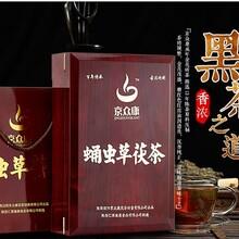 京众康茯茶蛹虫草红木礼盒1000g