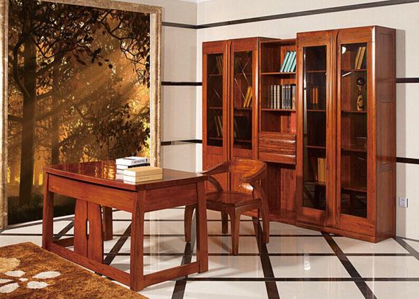 赤金檀木书房实木家具
