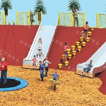北京不锈钢滑梯公园景区木质组合滑梯户外儿童乐园设计无动力游乐设施厂家直销定做