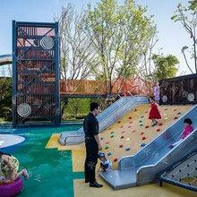 幼儿园户外定制滑梯,游乐园场地规划,户外主题乐园,不锈钢滑梯,攀爬网