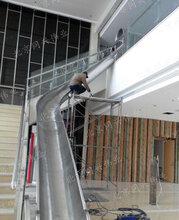 带光式不锈钢滑梯非标螺旋滑梯儿童大型户外组合滑梯园林景区滑梯
