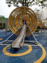 房地产不锈钢滑梯户外儿童乐园设施大型广场游乐场设备不锈钢滑梯攀爬架定制