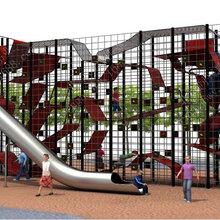 户外不锈钢滑梯儿童乐园组合滑梯景区游乐设备厂家不锈钢钻洞滑梯定制