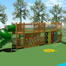 幼儿园非标游乐设备高端儿童组合滑梯户外大型木质玩具不锈钢组合滑梯
