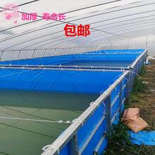 圆形镀锌板支架帆布水池鱼塘篷布大池塘养殖鱼虾移动鱼池图片