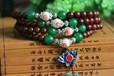 正宗印度小叶紫檀佛珠手串108颗念珠手链青花瓷款
