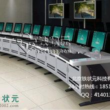 厂家直销安防监控台弧形监控操作台监控控制台监控调度台厂家图片