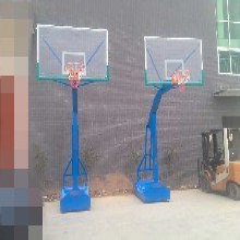 箱式移动篮球架(配钢化玻璃透明蓝球板)