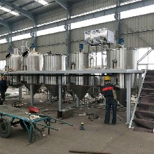 供应物理压榨精炼油成套设备生产线小型精炼油机图片