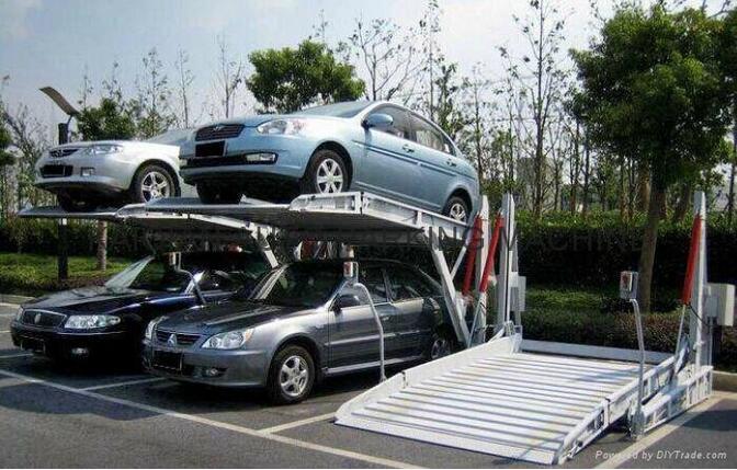 家用液压车库升降停车设备智能立体停车库垂直循环式立体车库图片