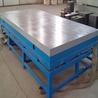 防锈铸铁平台铸铁平板T型槽平台机床工作台沧州华威