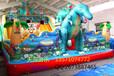 天蕊游乐供应儿童蹦蹦床组合滑梯大型充气城堡钢架蹦极小飞鱼沙滩池