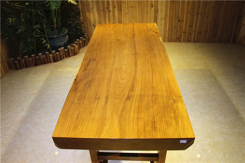 非洲柚木大板桌实木办公桌会议桌塔利木茶桌简约风格
