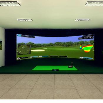 供应韩国红外线平板感应器室内高尔夫球场模拟器